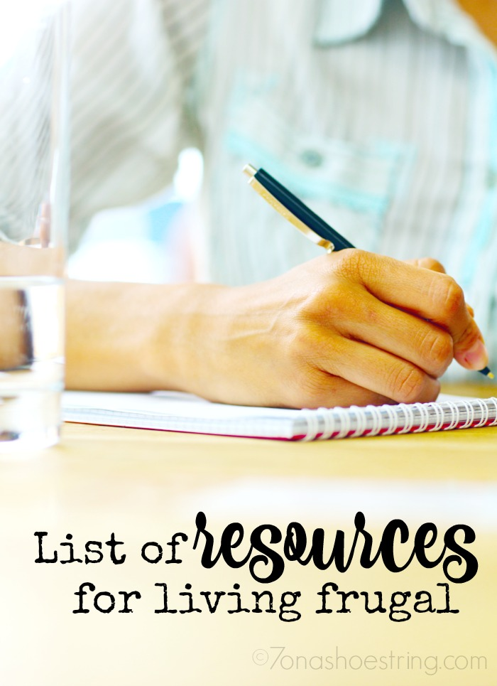 list of resources for living frugal