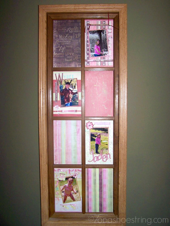 DIY window frame pictures