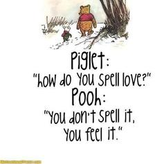 Pooh spell love