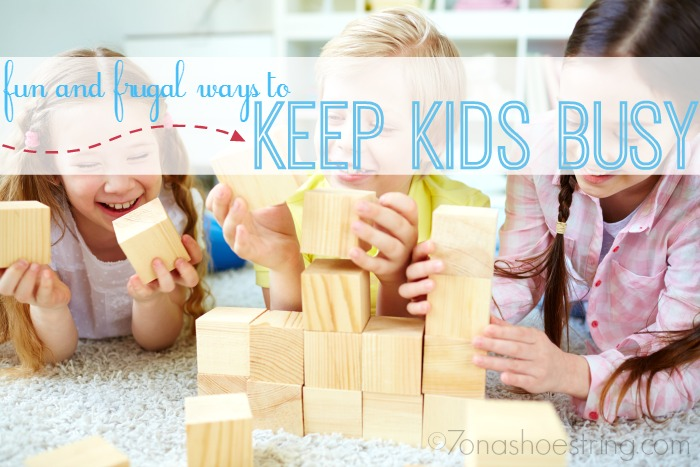 frugal ways to keep kids busy