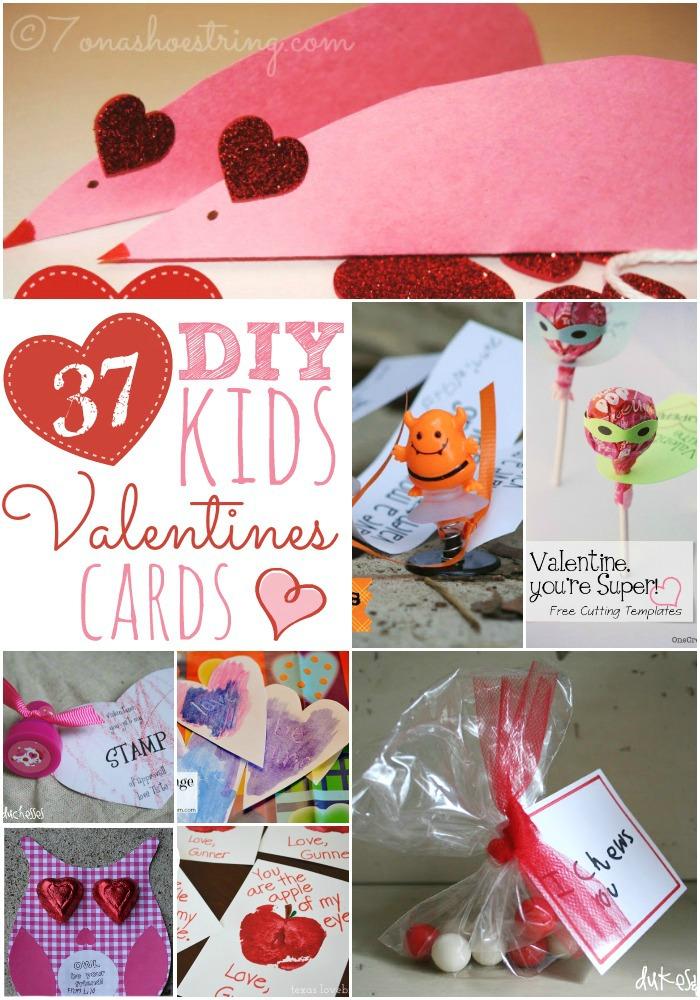 37 DIY Kid's Valentine's Cards