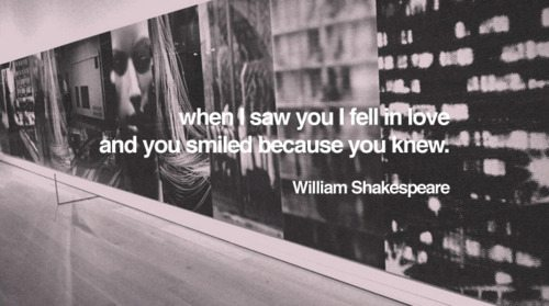 smiled because you knew
