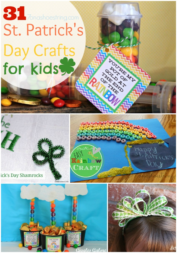 31 St. Patricks Day Crafts for kids