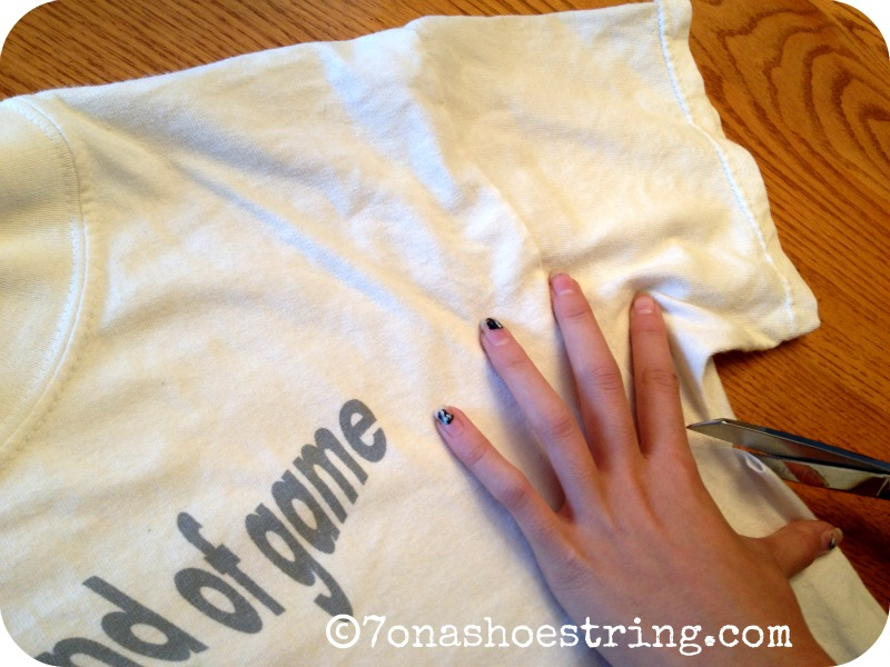 Upcycled Craft – Easy Tee Shirt to Tank Top