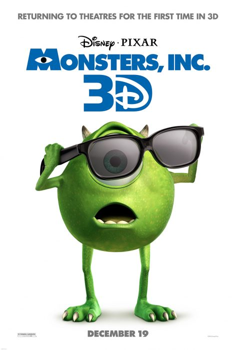 Monsters, Inc Returns to the Big Screen in 3D this December