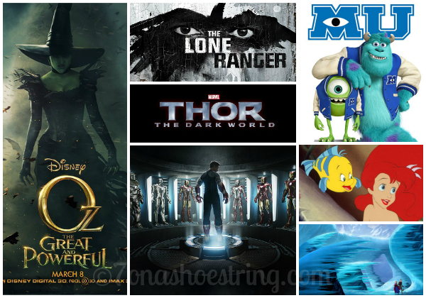 2013 Disney Movie Line Up