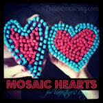 Mosaic Heart Kid's Craft for Valentine's Day
