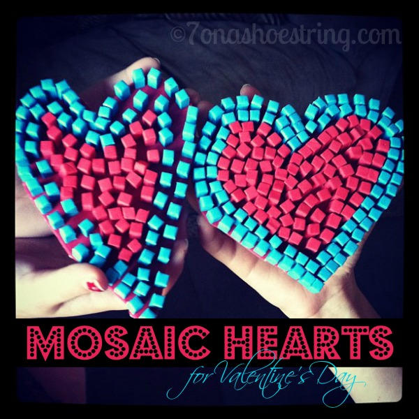 Mosaic Hearts Kid's Craft