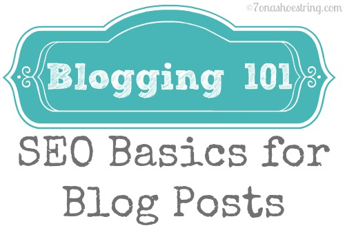 Blogging 101: SEO Basics for your Blog Posts