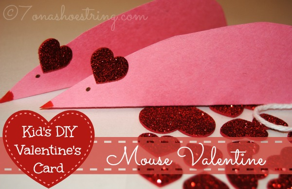 cute and easy mouse is a kid's diy valentines day card, Ideas