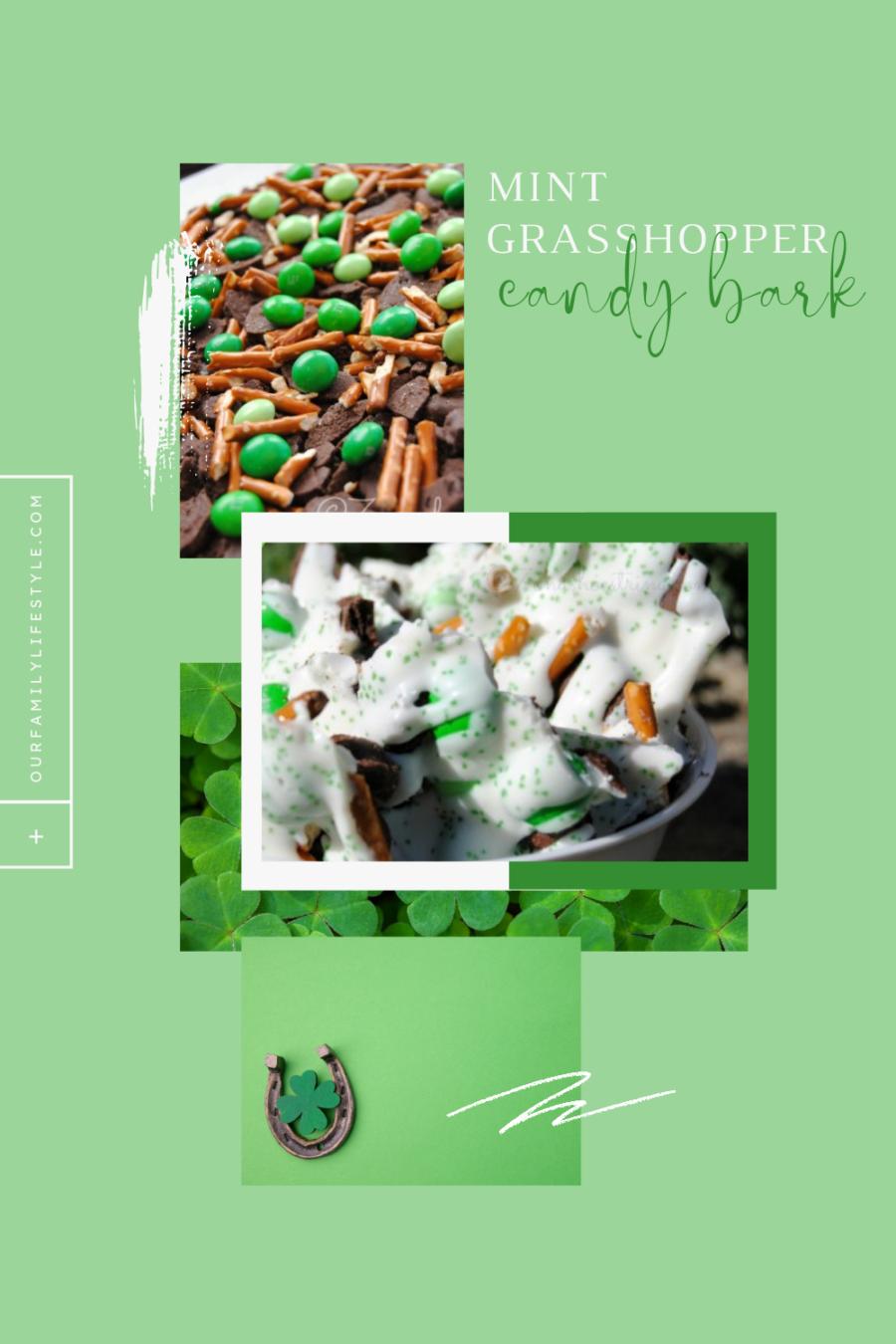 Mint Grasshopper Candy Bark