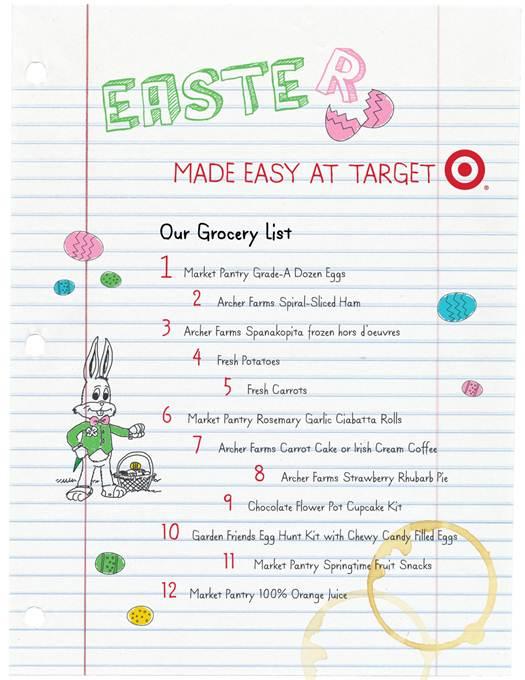 Target Easter list
