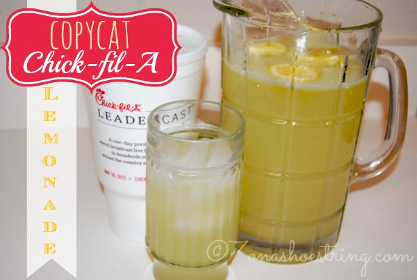 Copycat Chick-fil-A Lemonade Recipe