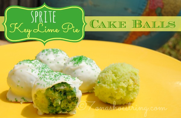 Sprite Key Lime Pie Cake Balls Recipe for Earth Day