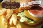 BBQ Infused Bacon Burger Recipe Covered with Tillamook Cheese