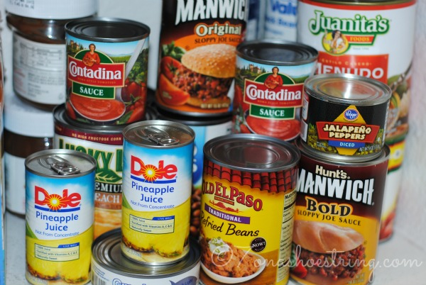 Canned foods cantry
