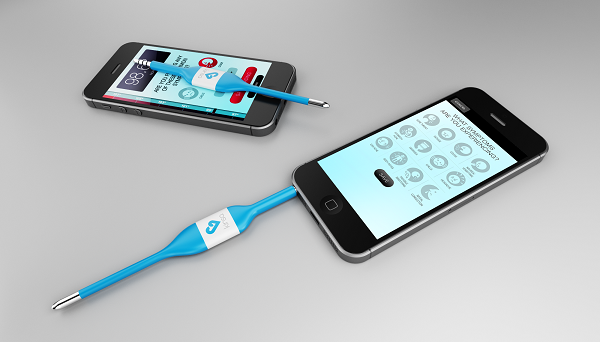 Smartphone Connected Thermometer from Kinsa