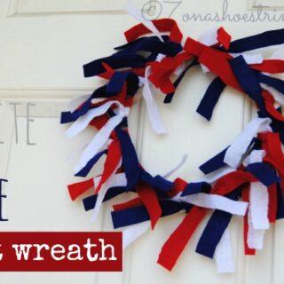 Red White Blue Felt Wreath