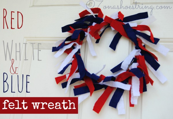 Red White Blue Felt Wreath