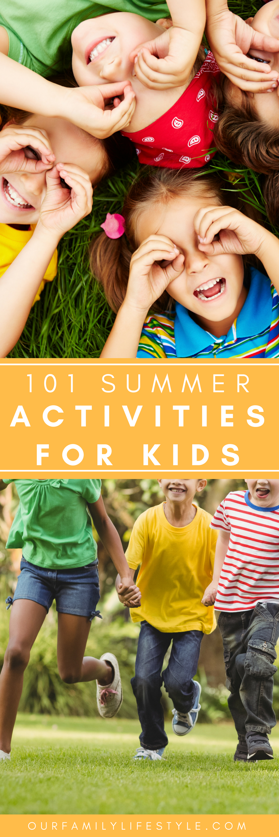 Most of these 101 summer activities for kids are budget-friendly and require nothing more than a little creativity for several days of fun games to play.