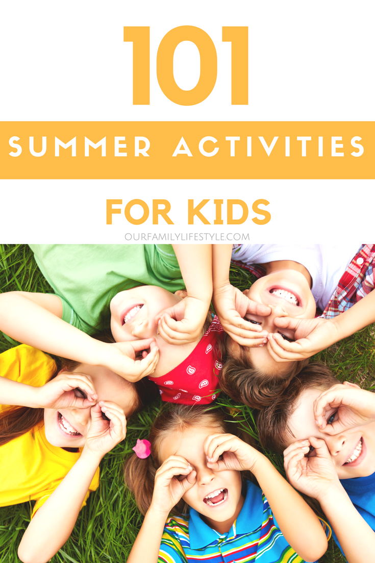 Most of these summer activities for kids are budget-friendly and require nothing more than a little creativity!