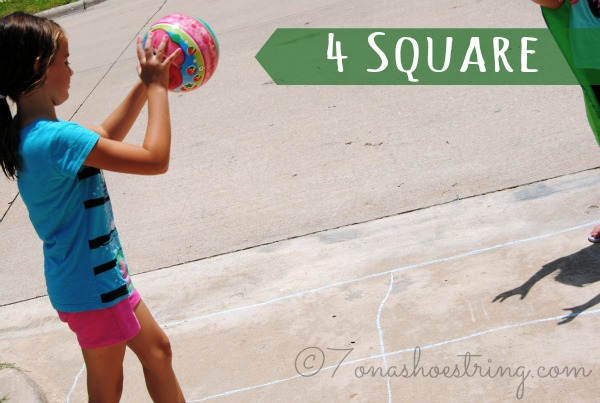sidewalk chalk games 4 Square