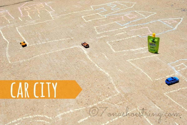 sidewalk chalk games Car City