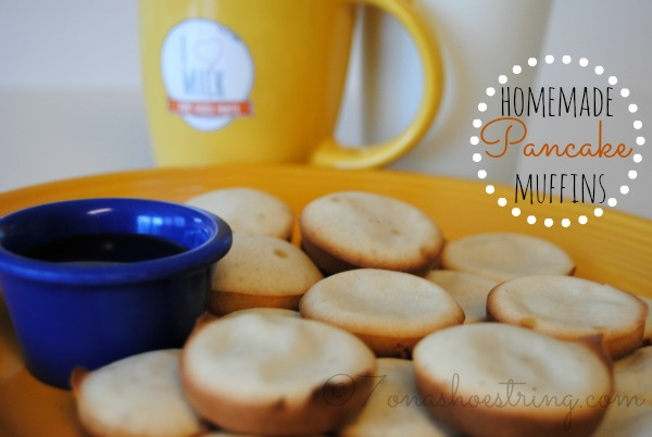 Homemade Pancake Muffins Recipe with Milk