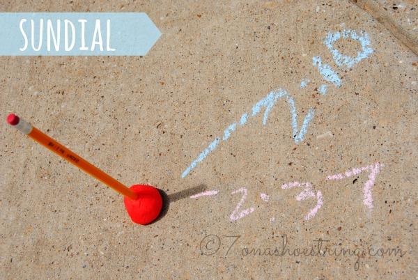 sidewalk chalk games sundial