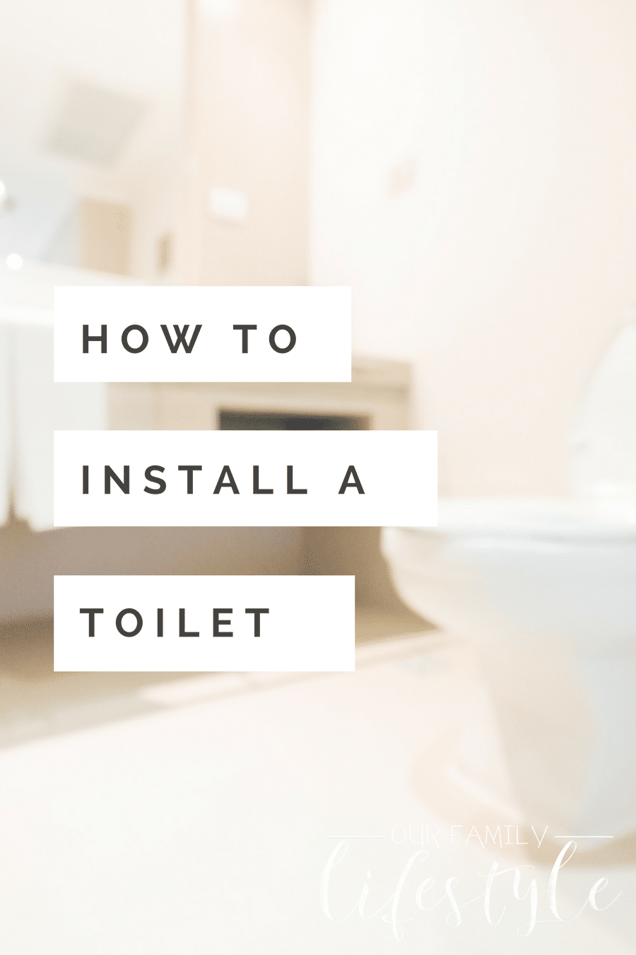 how to install a toilet