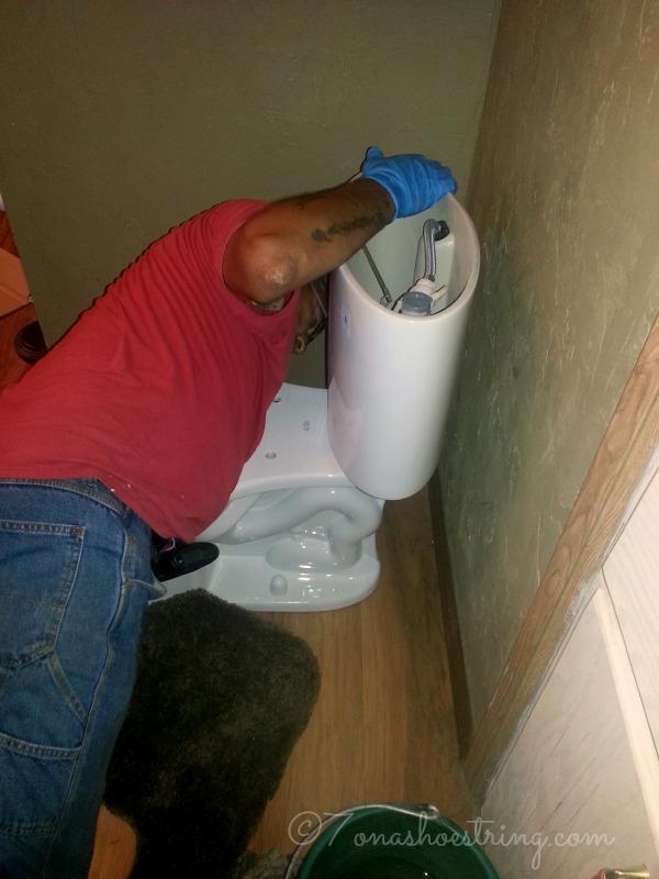 toilet tank installation