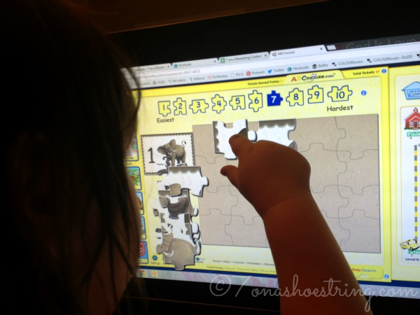 ABCMouse puzzles