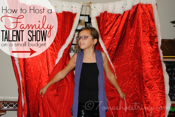 How to Host a Family Talent Show on a Small Budget