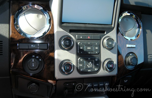 Super Duty dashboard