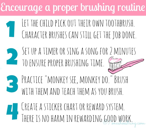 proper brushing routine