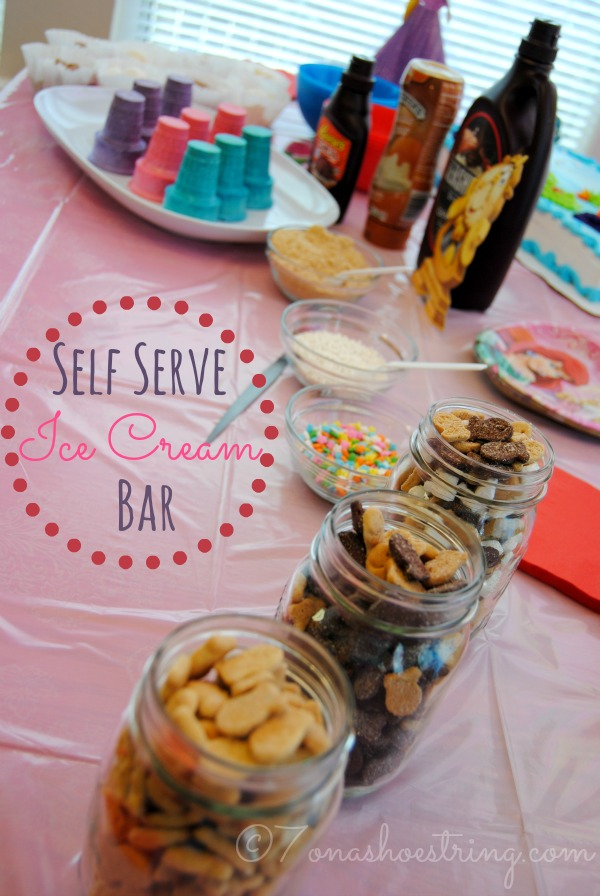 self serve ice cream bar