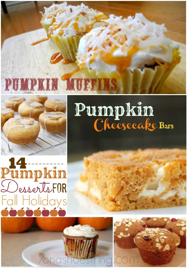 pumpkin desserts for Fall holidays