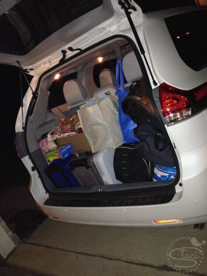 Toyota Sienna cargo space