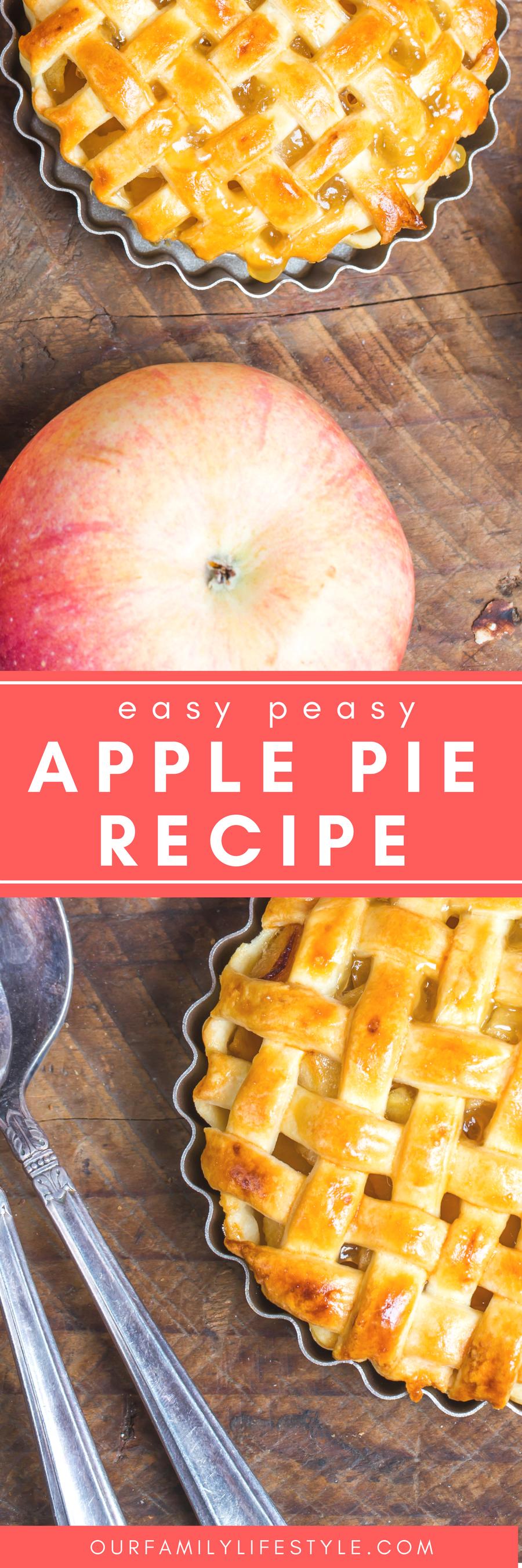 I enjoy the easy recipes. The ones that may not necessarily be from scratch, but are still good nonetheless. For instance, this not really homemade Apple Pie Recipe.