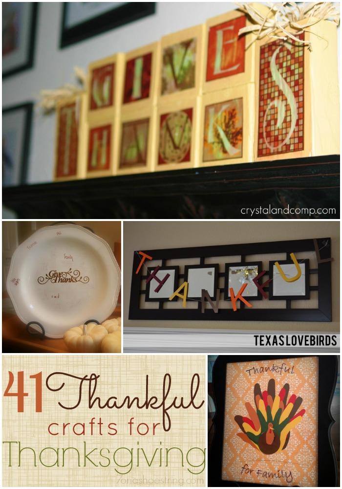 Thankful Crafts Thanksgiving