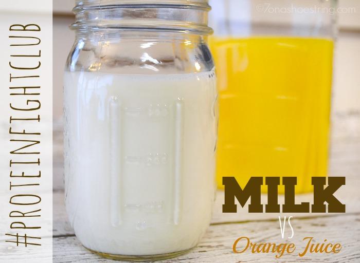 Milk vs orange juice
