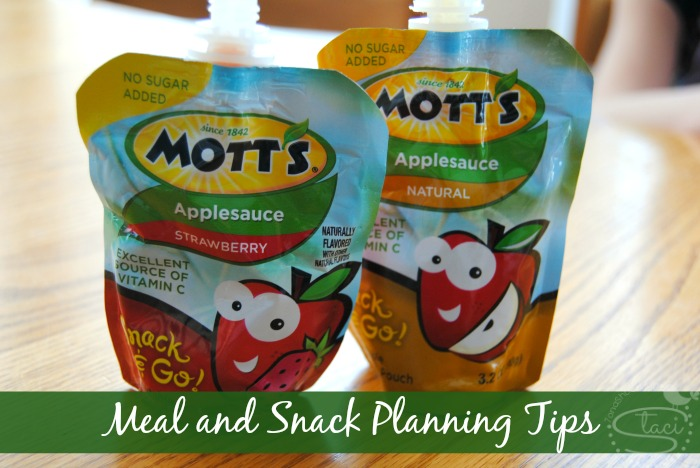 Meal and Snack Planning Tips with Mott's