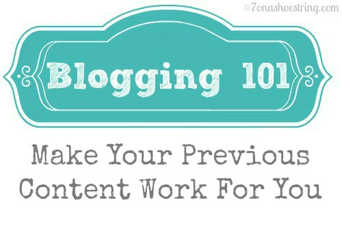 Blogging 101 Previous Content