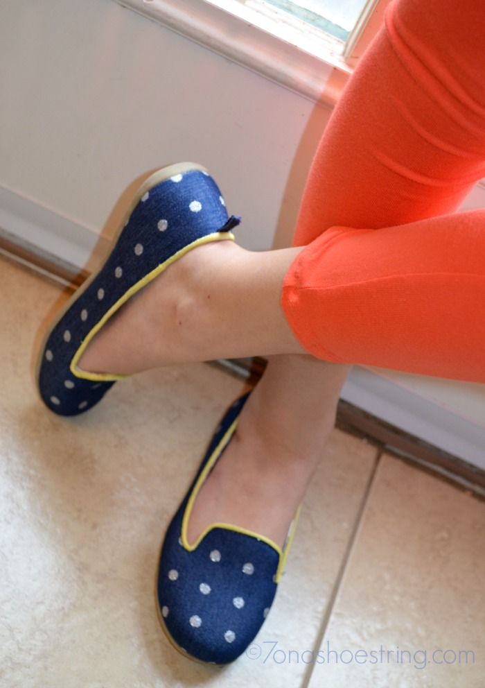 blue flats for girls