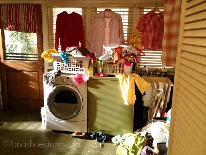 Heck family laundry room