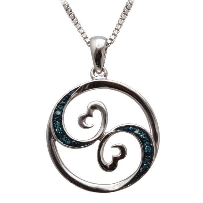Open Heart Waves pendant