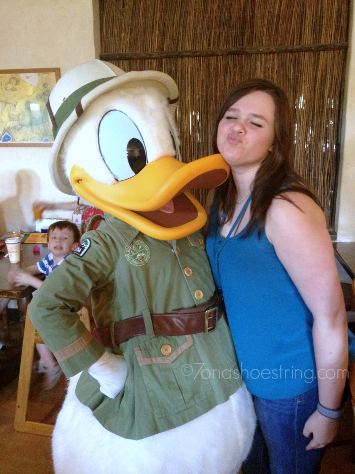 Chey and Donald Duck
