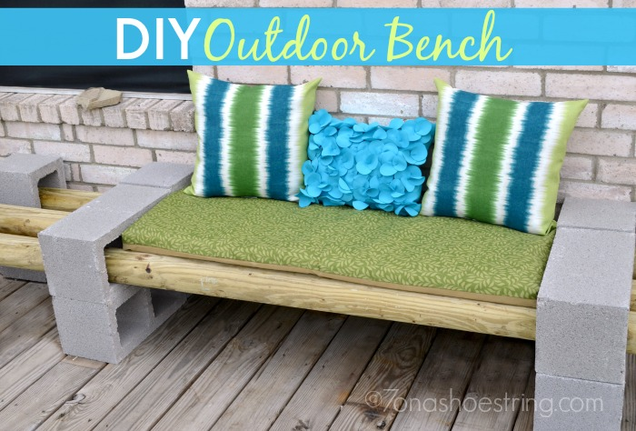 easy diy outdoor bench for under 30