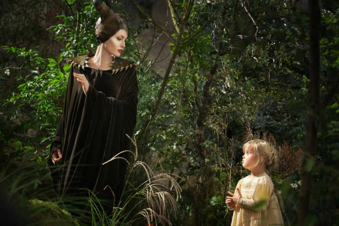 Maleficent with young Aurora
