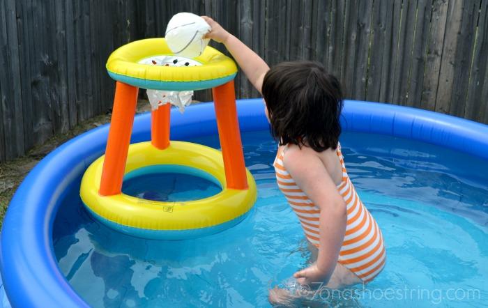 backyard pool basketball